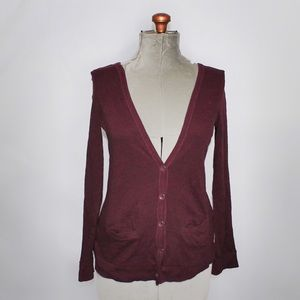 🎀 American Eagle Burgundy Button Up Cardigan